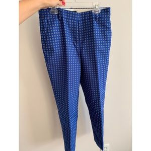 J.Crew Jacquard Straight Ankle Pants